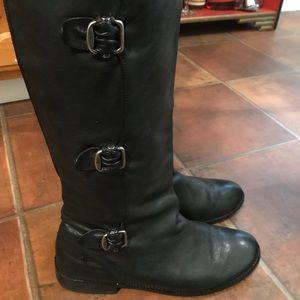 Frye Paige Women's Black Tall Flat Boot Size 9